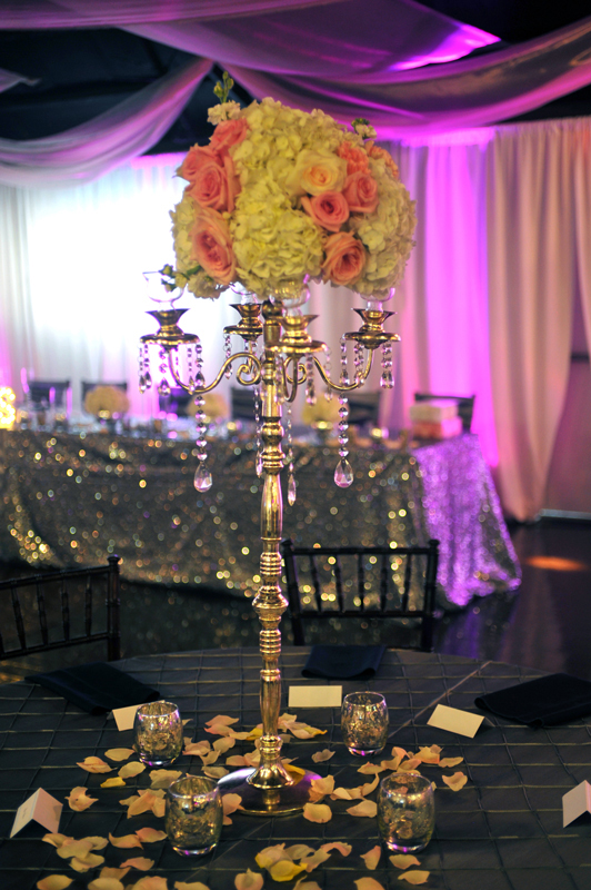 Jeweled Candelabra with treatments