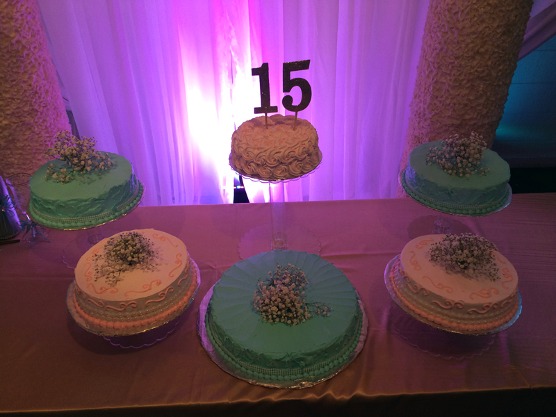 quinceanera celebration - banquet hall - 7163