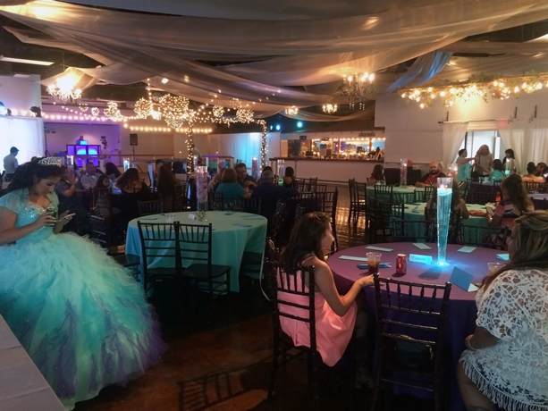 quinceanera celebration - banquet hall - 7253
